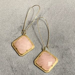 "Kendra Scott ""Pink Hope"" dangle earrings"